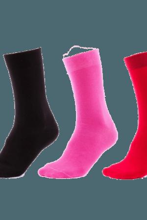 Sada jednobarevných ponožek 3v1